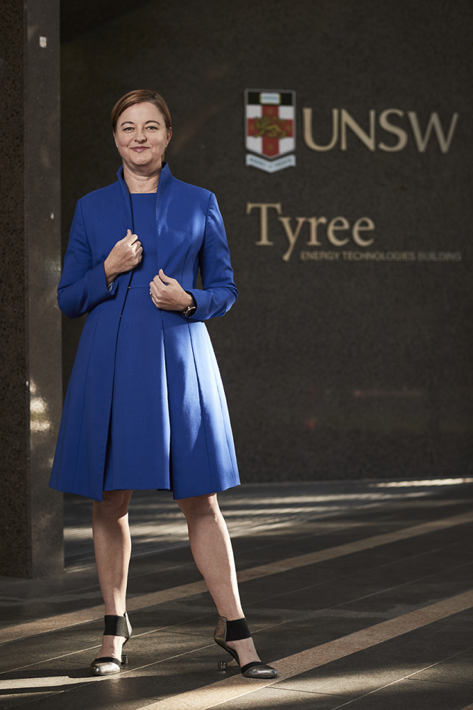 Justine Jarvinen outside UNSW's Tyree Building on lower campus.
