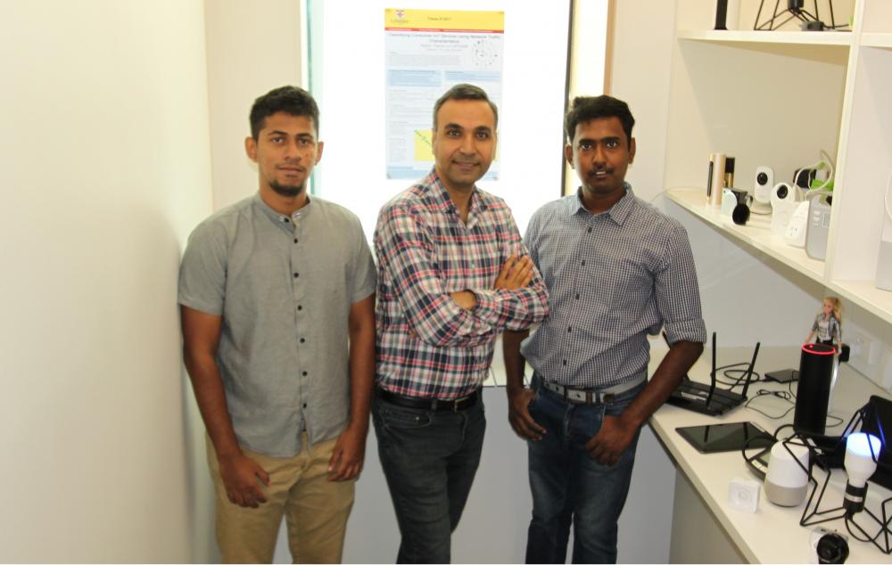 Ayyoob Hamza (left), Dr Hassan Habibi (middle) and Arunan Sivanathan (right)