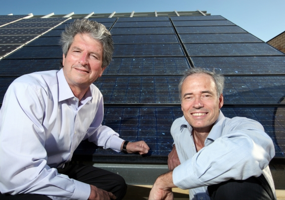 Scientia Professor Martin Green and the late Prfoessor Stuart Wenham