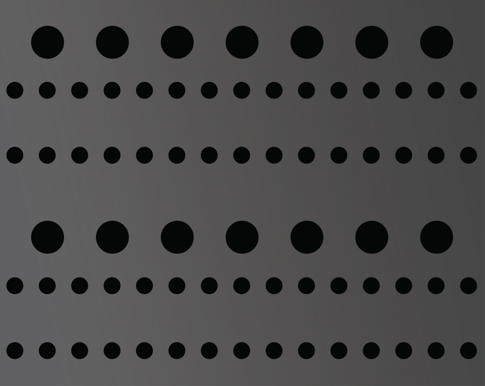 : The surface of an acoustic coating tile works by disrupting the frequency of sound wavelengths.