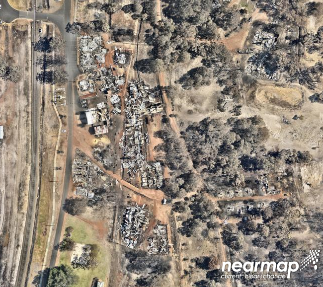 Image of the area after Photo: Nearmap