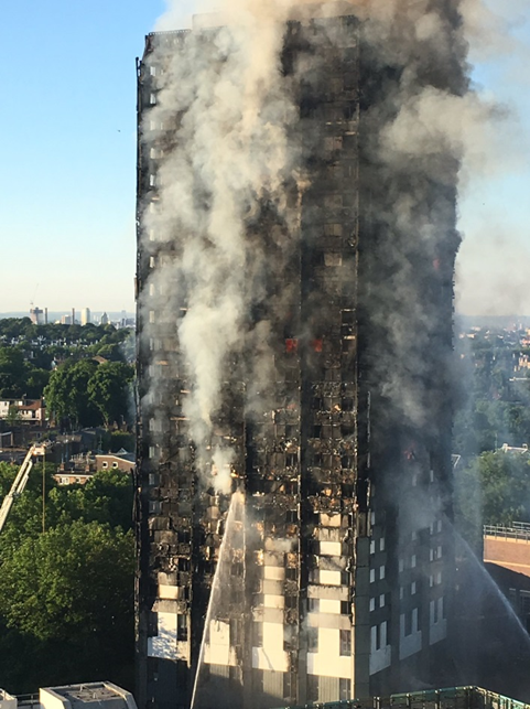 UK Grenfell Tower Fire in 2017