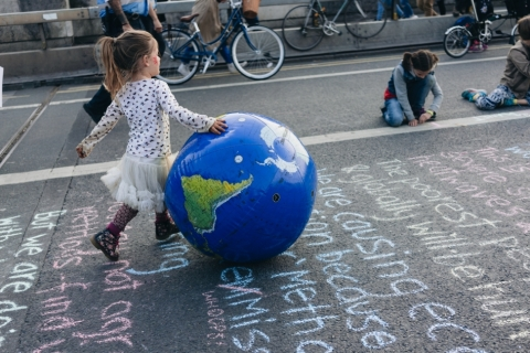 climate change protest girl