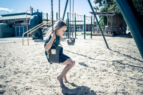 child alone during lockdown