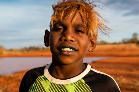 Aboriginal Warlpiri child