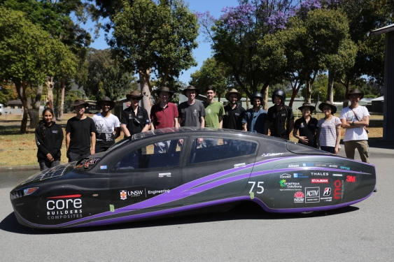 A Team Of Unsw Sydney Students Will Leave Perth On Saay Hoping To Drive Solar Electric Car More Than 4000km For Around The Cost