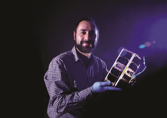 Associate Professor Elias Aboutanios with UNSW-Ec0. Photo:Grant Turner
