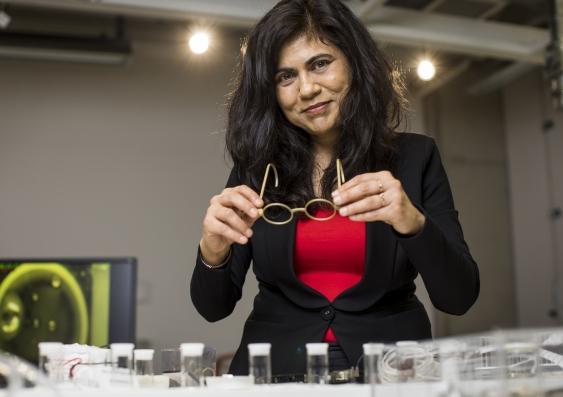 veena sahajwalla in a laboratory