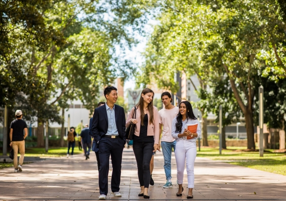 UNSW campus and students