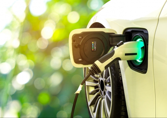 An electric vehicle recharging