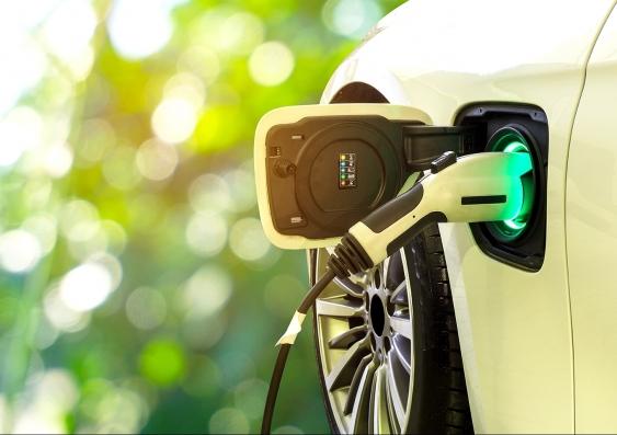 An electric vehicle recharging
