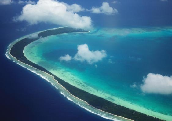 Kiribati from the air