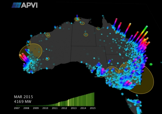 Australia Power Grid Map.Do You Have The Best Solar Producing Roof In Australia
