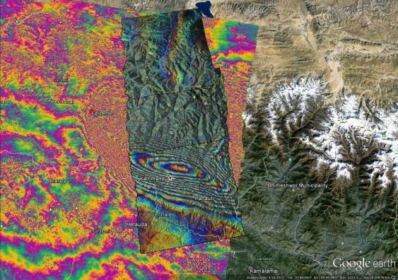 ALOS-2 satellite image superimpopsedover ESA satellite image.jpg