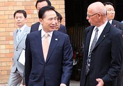 Korean president hilmer inside
