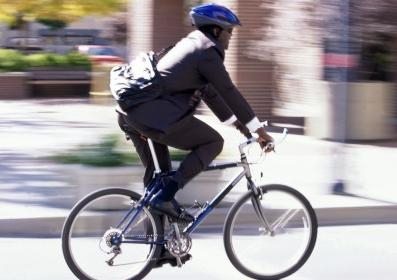 Male cyclist in helmet generic 1