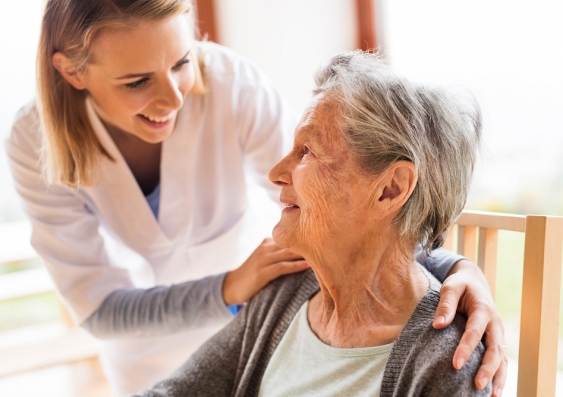 aged care visit in the home