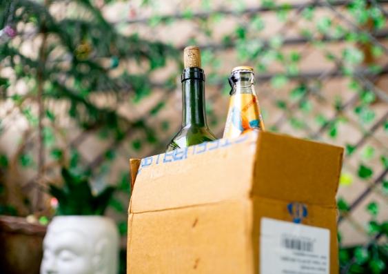 alcohol delivered to door