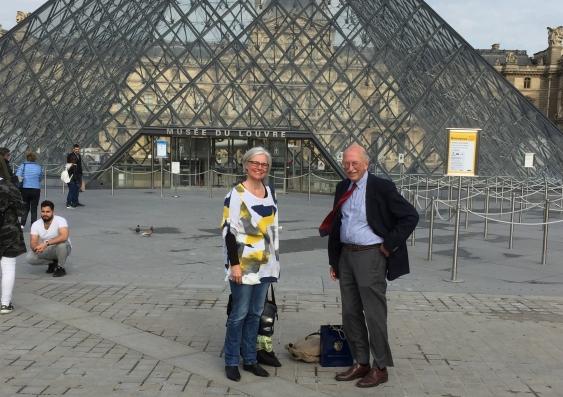 Professor Alison Ritter (L) with Professor Peter Reuter
