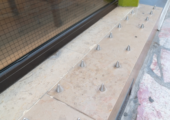 Anti homeless spikes