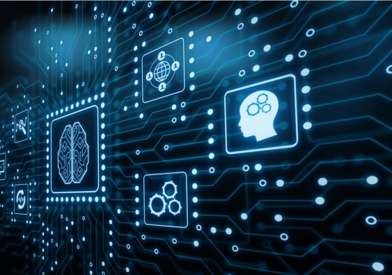 Artificial intelligence and internet of things concept