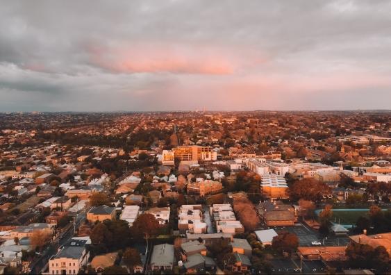 australia suburb aerial view