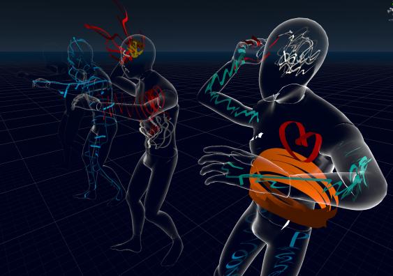 Body mapping session in Virtual Reality using EmbodiMap developed by UNSW fEEL Lab Scientia Professor Jill Bennett and lead immersive media designer Volker Kuchelmeister.