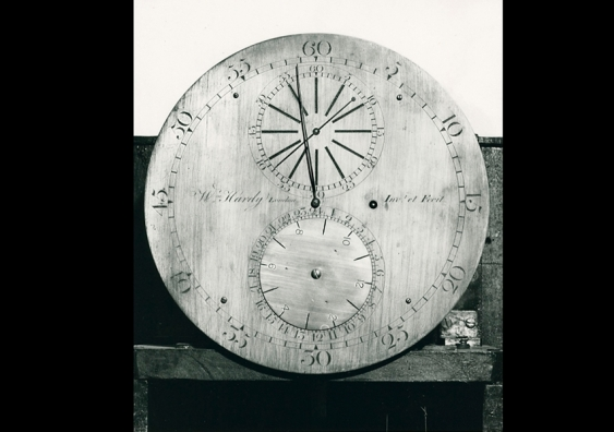 The dial of an old-world sidereal clock from the 1850s