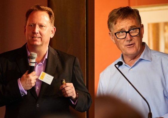 David Goad (left) and Stephen Porges (right) at the UNSW Business Innovation Conference 2019.