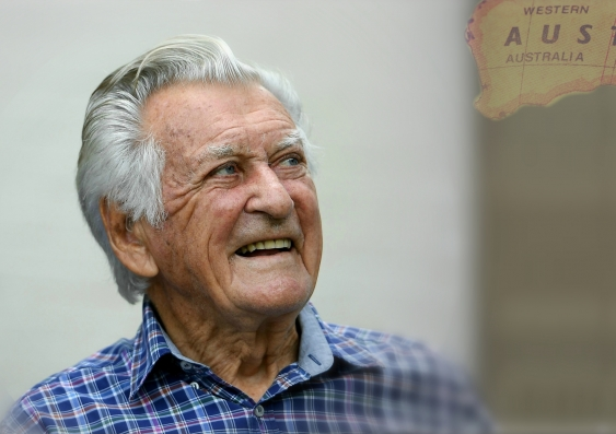 Bob Hawke image from The Conversation