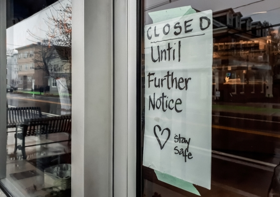 Shop closed during COVID-19