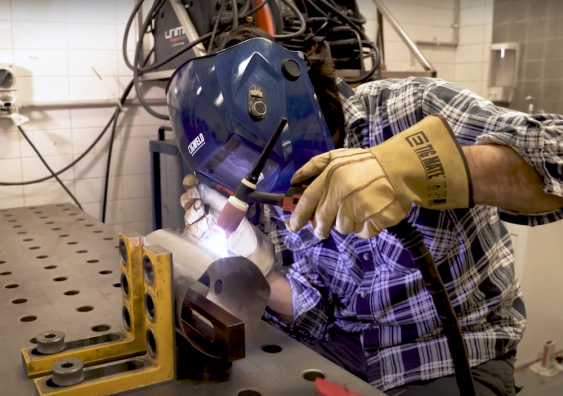 welding in the lab