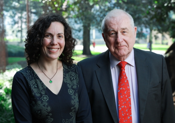 Dr Hilary Evans Cameron with Professor Guy S Goodwin-Gill