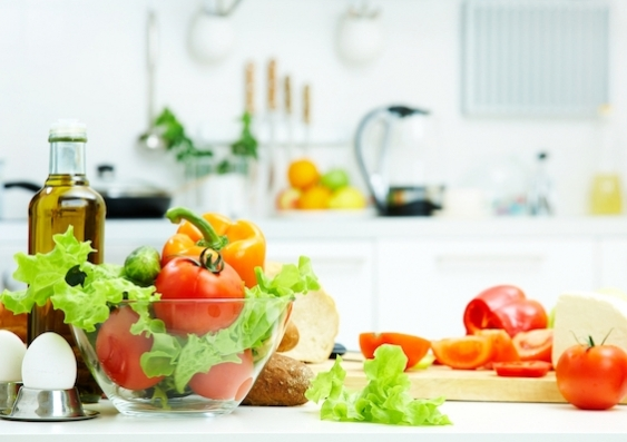 Healthy food is prepared on a kitchen bench