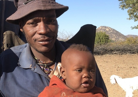Himba father and son