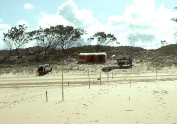 The Nine Mile Beach campsite