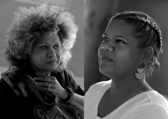 UNSW Adjunct Senior Lecturer Dixie Link Gordon, Project co-initiator and Gumbangi woman Kowana Welsh. Image credit: Belinda Mason.