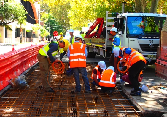 laying-the-new-concrete-on-Wyndham-Street