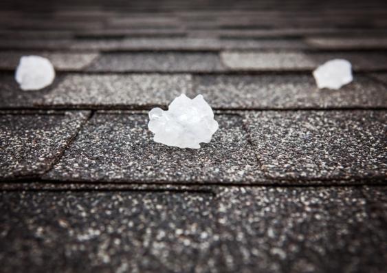 Hail on the ground