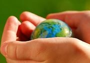 Hands globe web