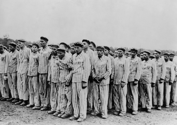 Men in concentration camp