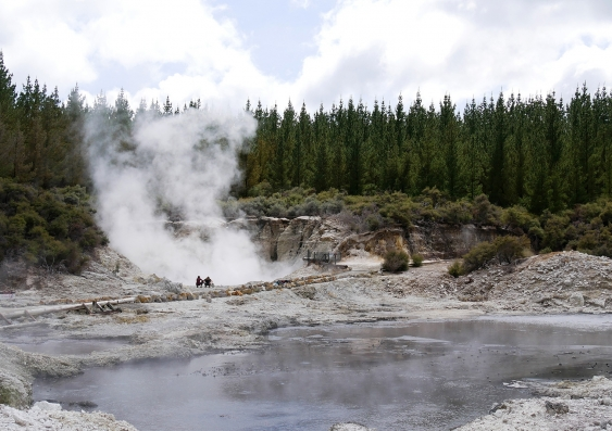 Hot springs in Rotorua, New Zealand