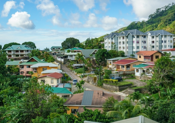 houses in the city of victoria the capital of seychelles