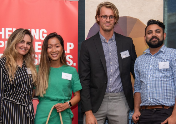 UNSW postgraduate winning team at the 2019 Big Idea competition. From left to right: Lauren Hayes, Liana Nguyen, Jules Grimont and Mikhail Mathias. Shehara Hapugalle (not featured) is also part of the Closed Loop team but was unable to attend the event.