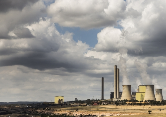Loy Yang power station releasing plumes of smoke in Victoria