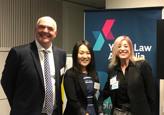 Youth Law Australia Director Matthew Keeley (left) and Principal Solicitor Ahram Choi (middle). Photo: supplied.