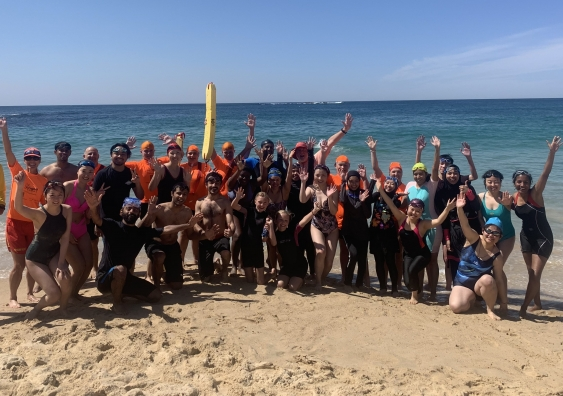 International students beach safety program