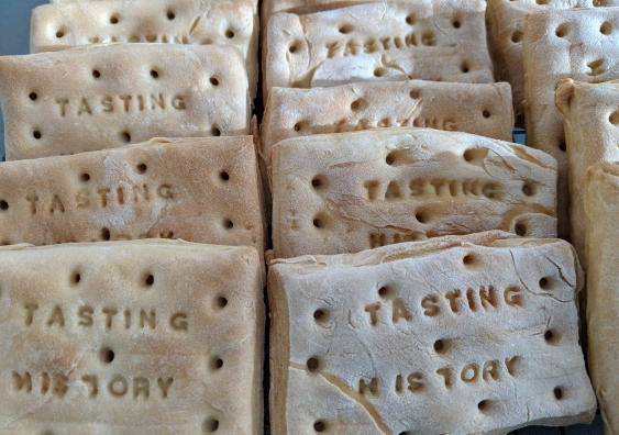 Hard tack biscuits are one of three biscuits being researched by UNSW Art & Design lecturer Dr Lindsay Kelley.