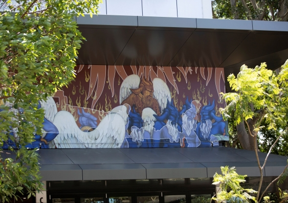 An image of Khadim Ali's mural at UNSW Galleries