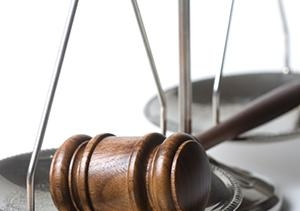 Law court gavel scales CROP